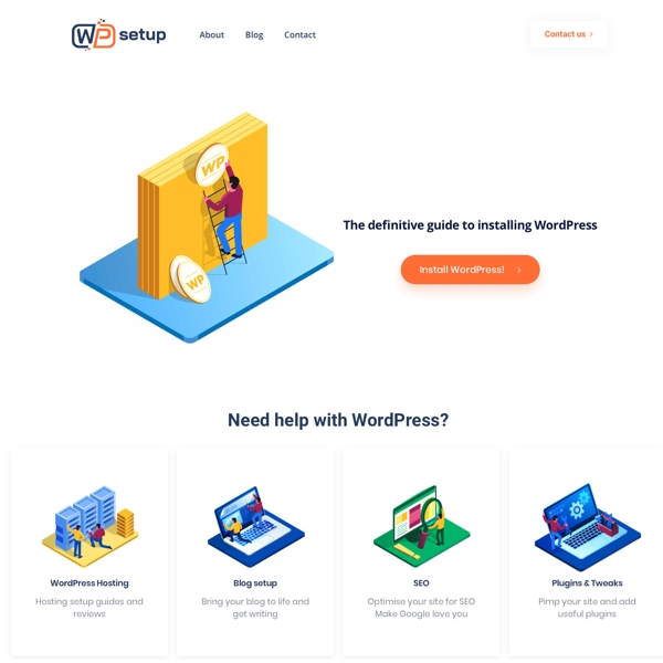 WPsetup Helping you install and setup WordPress