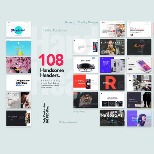 108 Handsome Headers Creative website headers quickly and easily