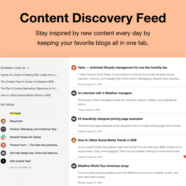 Content Discovery Feed