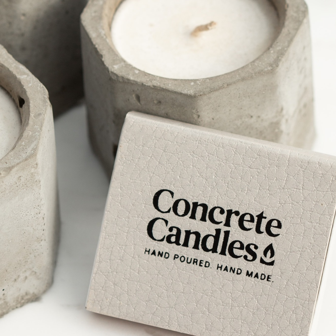 Concrete Candles Hand Made, Hand Poured All Natural Concrete Candles