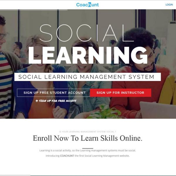 Coachunt online course learning and teaching marketplace